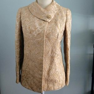 Vintage Gold Brocade Women's Jacket by Harrod's